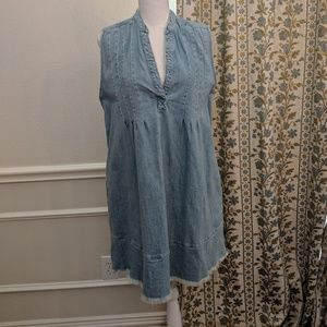 Current Elliott Tuck Dress Babydoll Tent Chambray